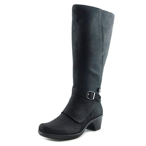 Easy Street Jan Women W Round Toe Synthetic Black Knee High Boot