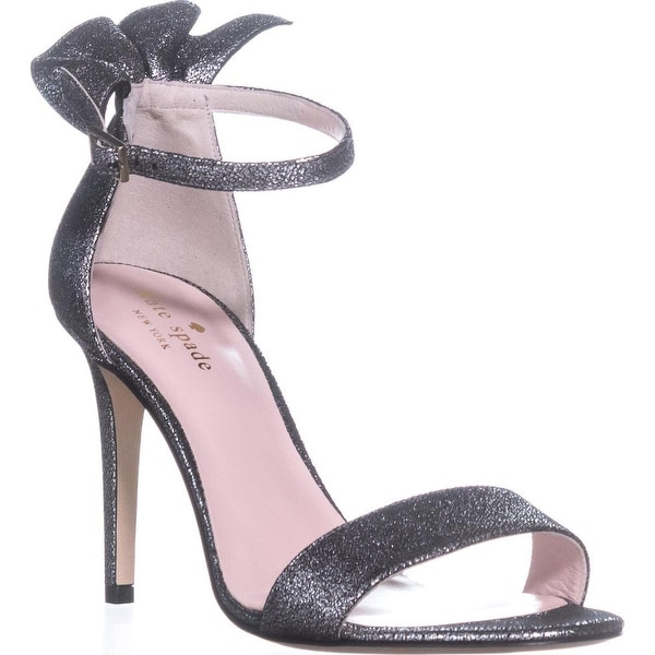 Kate Spade New York Iris Ankle Strap Dress Sandals, Pewter/Cracked Vintage