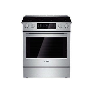 """Bosch HEI8054U 30"""" 4.6 Cu. Ft. Electric Slide-In Range with European Convection from the 800 Series - Stainless Steel"""
