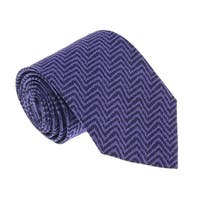 Missoni U5066  Purple/Black  chevron 100% Silk Tie - 60-3