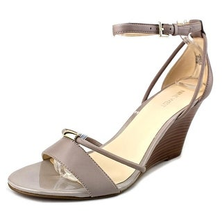 Nine West Fastness Open Toe Leather Wedge Sandal
