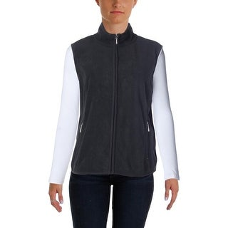 Karen Scott Womens Fleece Stretch Casual Vest - pxl