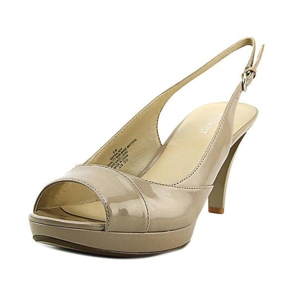 9c1371df66b Shop Nine West Kalner Women Peep-Toe Synthetic Tan Slingback Heel ...