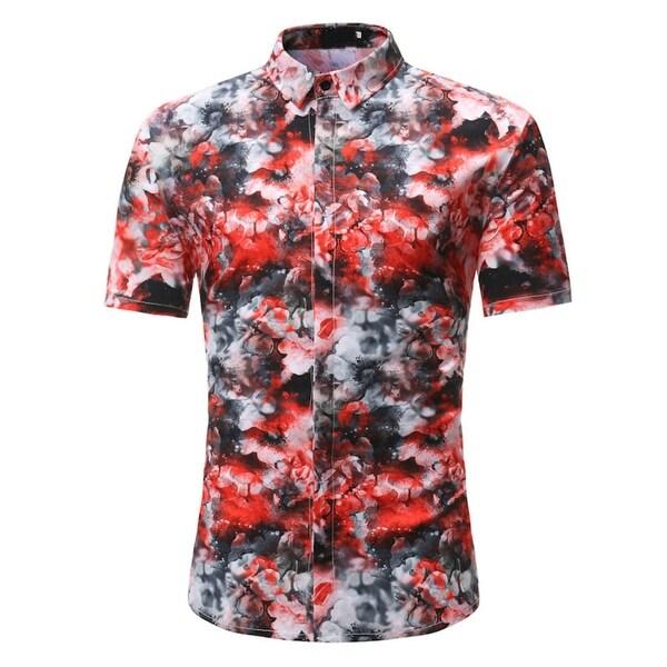 55b2b3c23d20 Shop Men s Floral Button Down Short Sleeve Hawaiian Tropical Shirt ...