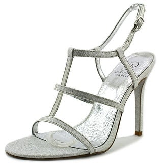 Adrianna Papell Dalton Women Open Toe Canvas Silver Sandals