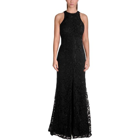 Vera Wang Womens Evening Dress Lace Slit