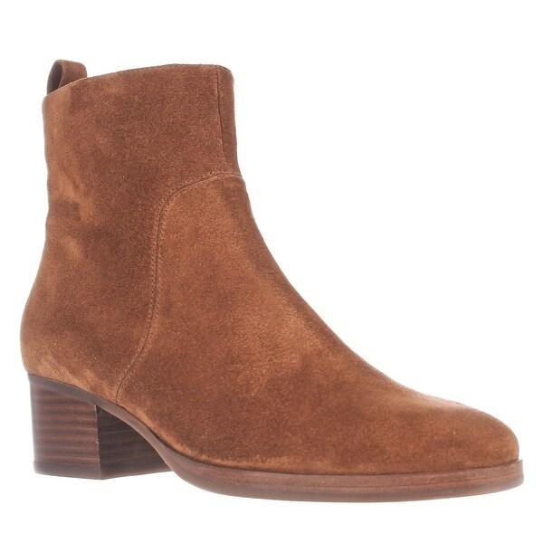 Via Spiga Ottavia Block-Heel Ankle Boots, Luggage