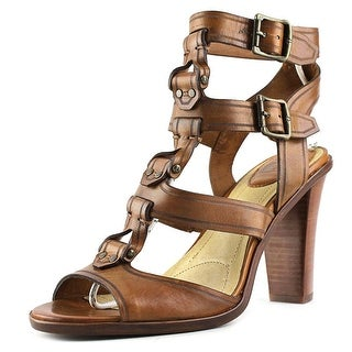 Frye Sonia Y Strap Gladiator Women Open Toe Leather Brown Sandals