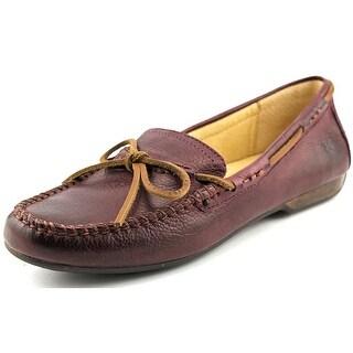 Frye Janet Tie Women Round Toe Leather Purple Flats