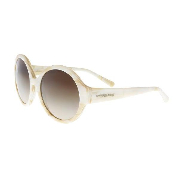 a214b5c4db Michael Kors MK2035 320813 SEASIDE GETAWAY Marble Ivory Round Phantos  Sunglasses - 55-19-