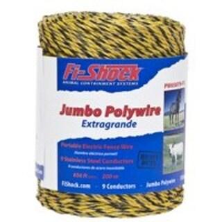 Fi-Shock PW656Y9-FS Electric Fence Jumbo Polywire, 656'