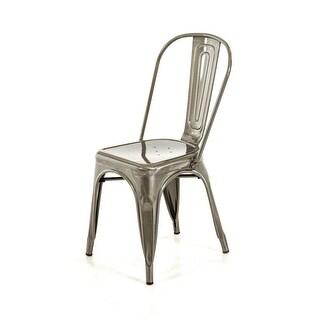 Modern Steel Side Chair (Set Of 2)