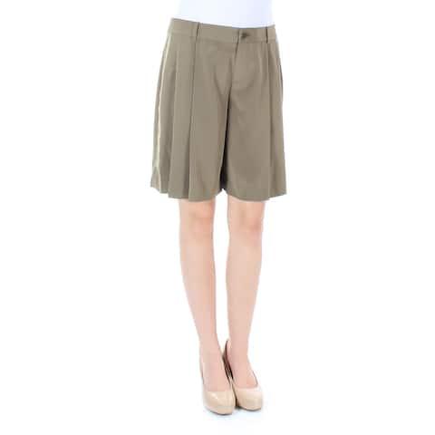 Ralph Lauren Womens Green Pleated Short Size: 2