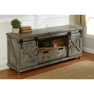 Link to StyleCraft Presley 2-Door Natural Brown Open Center TV Stand Similar Items in TV Stands & Entertainment Centers