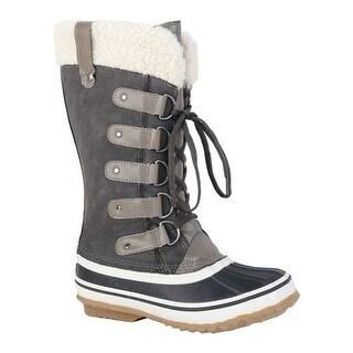 Portland Boot Company Women's Duck Duck Tall Snow Boot Dark Grey