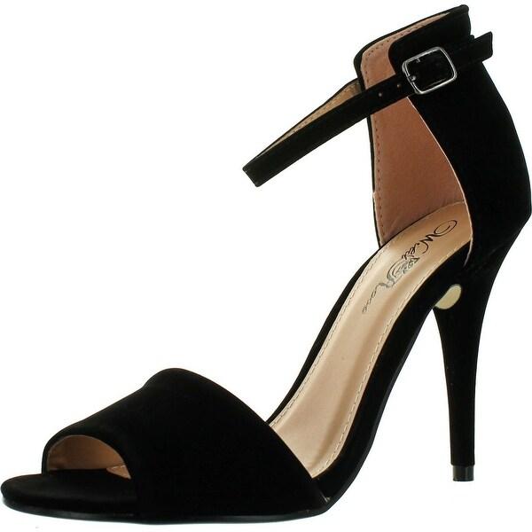 Wild Rose Women's Reggie01 Peep Toe Pumps Sandals