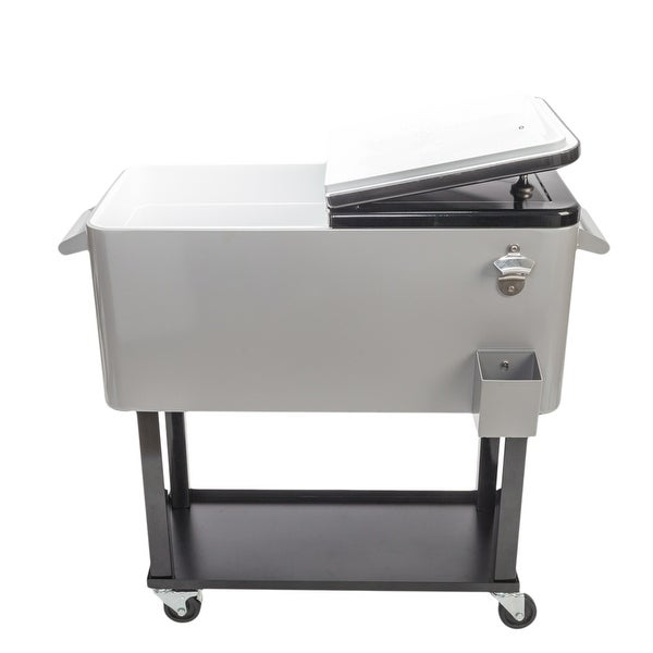 80QT Iron Spray Cooler with Shelf. Opens flyout.