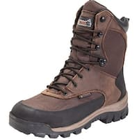 "Rocky Outdoor Boots Mens 8"" Core WP Insulated Dark Brown"