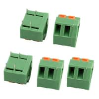 5pcs KF237 300V 10A 5.08mm Pitch 2P Spring Terminal Block for PCB Mounting