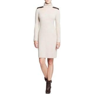 Kate Spade Womens Sweaterdress Wool Leather Trim