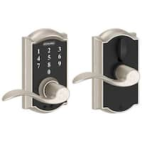 Schlage FE695-CAM-ACC-RF Camelot Touch Entry Door Lever Set with Accent Lever- Manufacturer Refurbished