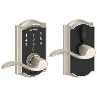 Schlage FE695 CAM ACC RF Camelot Touch Entry Door Lever Set With Accent