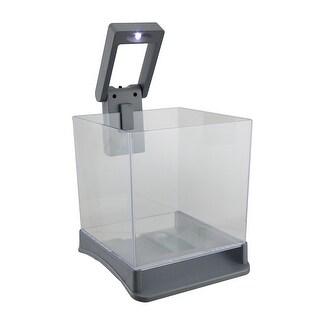 Betta Box .7 Gallon Betta Fish Cube Tank w/White LED Light