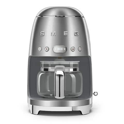 Smeg 50's Retro Style Aesthetic Drip Coffee Machine, Stainless Steel