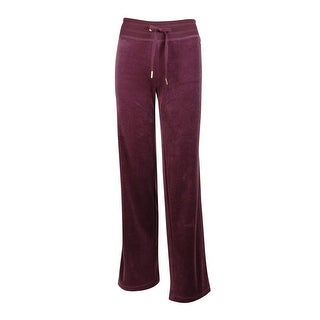 Calvin Klein Women's Velour Wide Leg Sweat Pants (M, Fig)