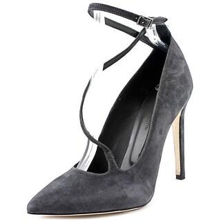 Charles David Jenifer Women Pointed Toe Suede Gray Heels