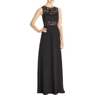 Aidan Womens Evening Dress Lace Party