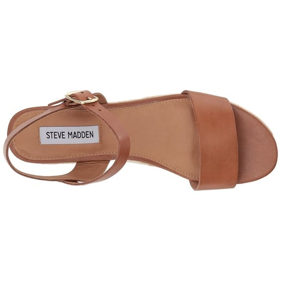 85dc5490620 Shop Steve Madden Womens Busy Leather Open Toe Casual Slingback ...