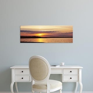 Easy Art Prints Panoramic Images's 'Clouds over lake at sunset, Myakka River State Park, Sarasota, Florida' Canvas Art