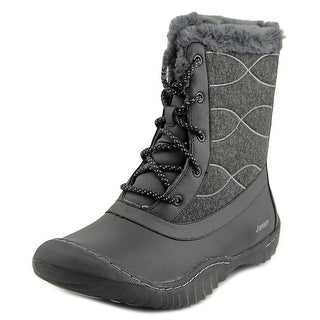 JSport by Jambu Autumn Women  Round Toe Canvas Black Winter Boot
