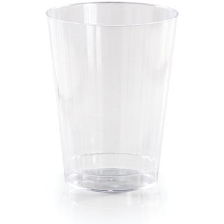 Club Pack of 96 Clear Reusable Fluted Tumbler Party Drinking Glasses 12oz