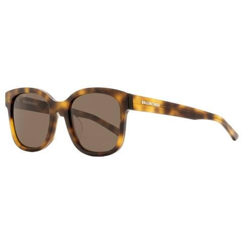 Balenciaga BB0076SK 002 Unisex Havana 52 mm Sunglasses
