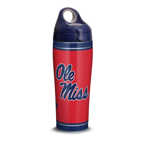NCAA Mississippi Ole Miss Rebels Campus 24 oz Stainless Steel Water Bottle with lid