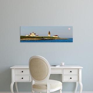 Easy Art Prints Panoramic Image 'Lighthouse, Point Judith Lighthouse, Narragansett Bay, Rhode Island' Canvas Art
