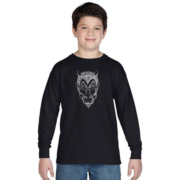 Shop LA Pop Art Boy's Word Art Long Sleeve - THE DEVIL'S