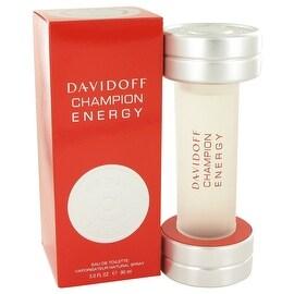 Davidoff Champion Energy by Davidoff Eau De Toilette Spray 3 oz - Men