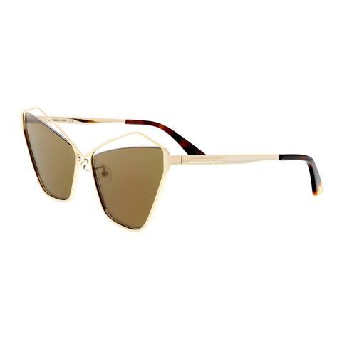 MCQ by Alexander McQueen MQ0158S 002 Light Gold Cateye Sunglasses