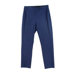 Theory NEW Navy Blue Womens Size 6 Seamed Flat Front Dress Pants