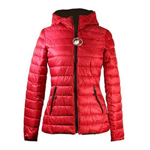 HFX Halifax Womens Red Packable Hooded Coat S