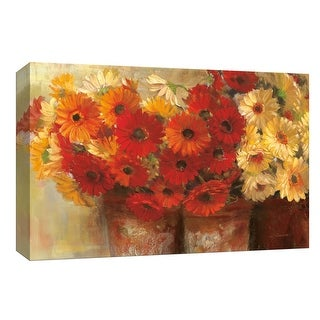 """PTM Images 9-153603  PTM Canvas Collection 8"""" x 10"""" - """"Chelsea Gerberas"""" Giclee Flowers Art Print on Canvas"""