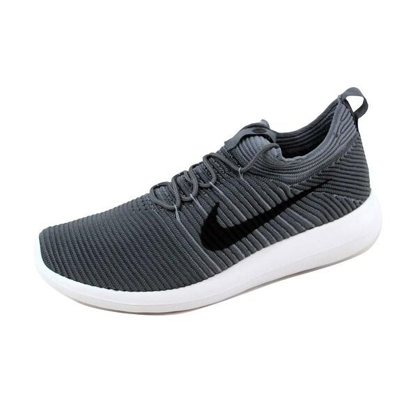 Nike Men's Roshe Two Flyknit V2 Dark Grey/Black-Cool Grey 918263-001