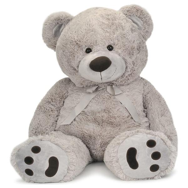 JOON Huge Teddy Bear with Ribbon, Light Gray. Opens flyout.