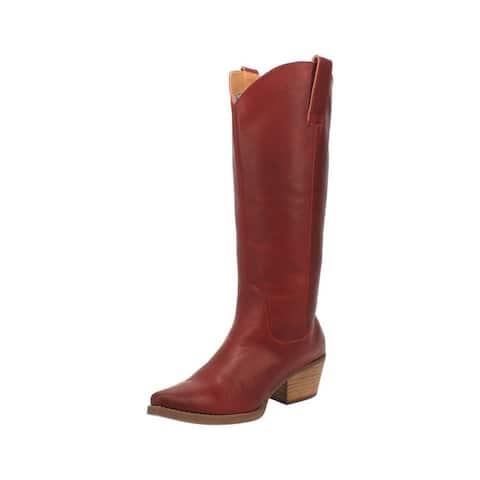 "Dingo Western Boots Womens 14"" #Bonanza Leather"
