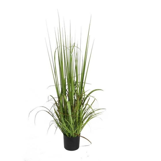 "39"" Potted Green and Red Artificial Onion Grass Plant Decoration"
