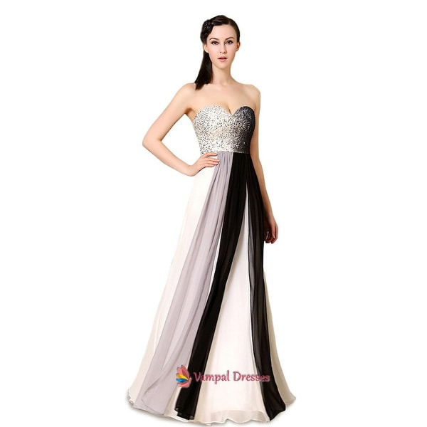 5cccf71f10 Shop Black And White Dresses Formal With Sparkle Top,Multi Color ...