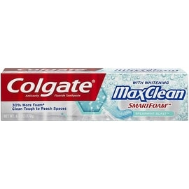 Colgate MaxClean SmartFoam Toothpaste, Spearmint Blast 6 oz